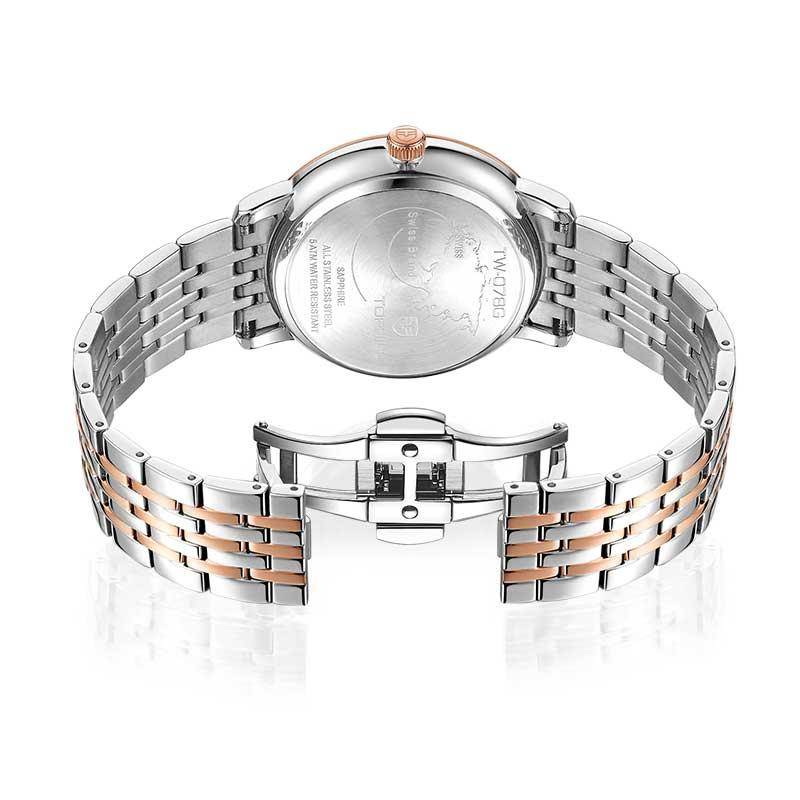 Đồng hồ nam chính hãng TOPHILL TW078G.S7652 - Dây thép - kính Saphire