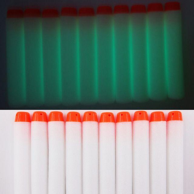 Vỉ 10 viên xốp trắng phát quang cho nerf