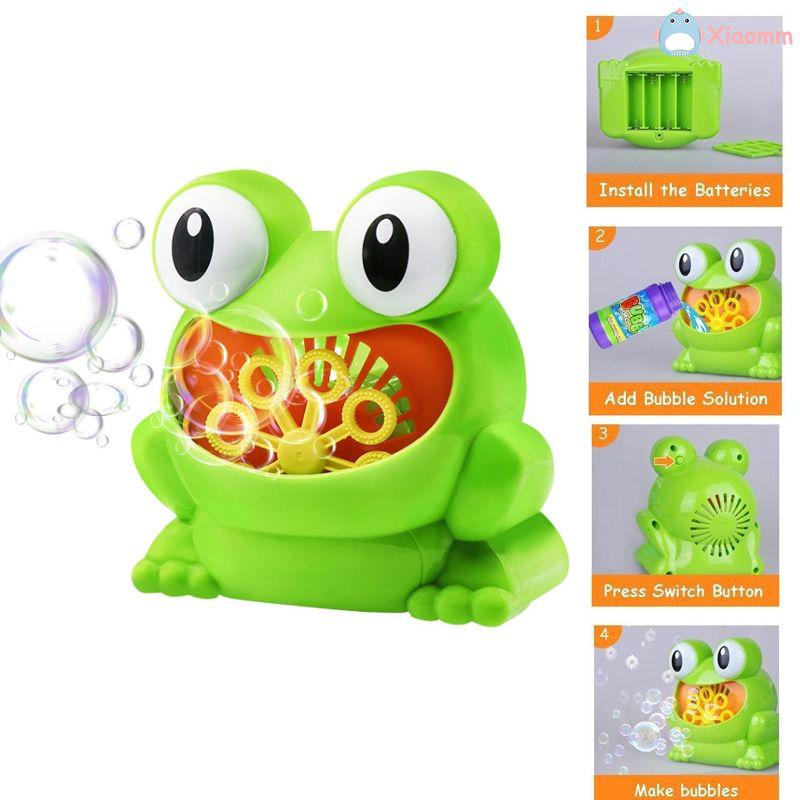 New Cute Frog Automatic Bubble Machine Blower Maker Party Summer Outdoor Toy for Kids mm