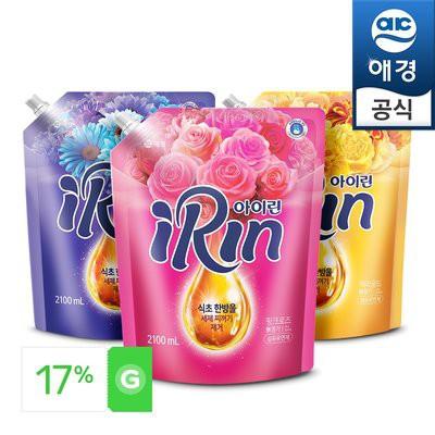 Nước xả làm mềm vải hương hoa, siêu đậm đặc IRIN, Hàn Quốc ( Túi 2,1 L)