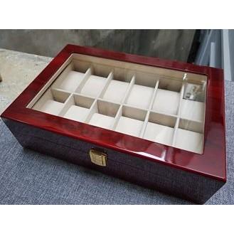Hộp đựng đồng hồ 6;12 ngăn bằng gỗ