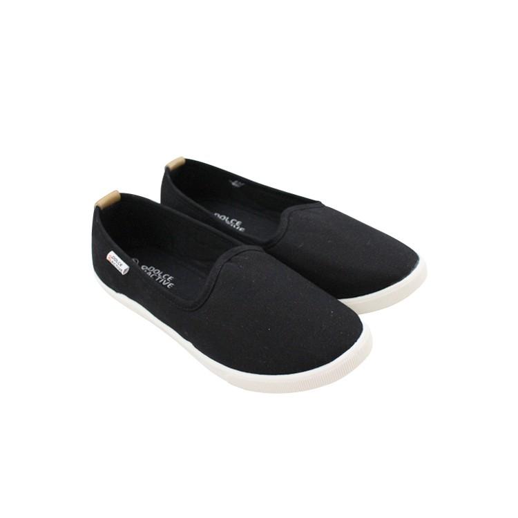 D&A giày slipon nữ thời trang EPL1713 đen