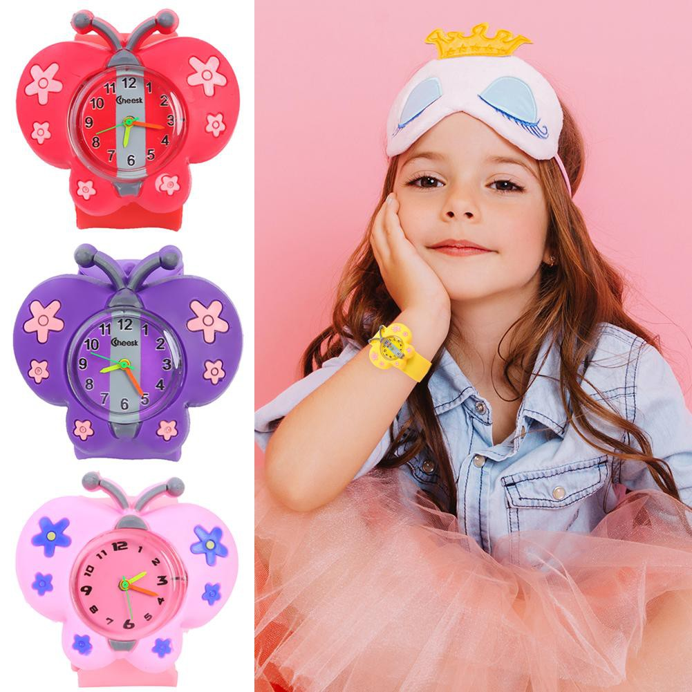 Butterfly Pat Watches Kids Unisex Analog Wristwatch