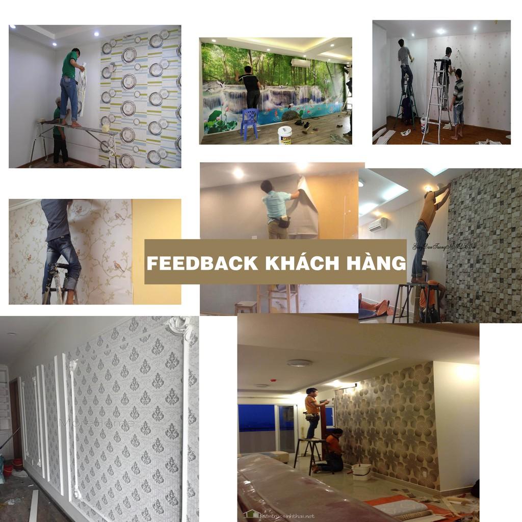 KHỔ 90cm   Giấy dán tường gạch bông dán phòng ngủ - Decal dán tường bếp 3D hàn quốc G5429