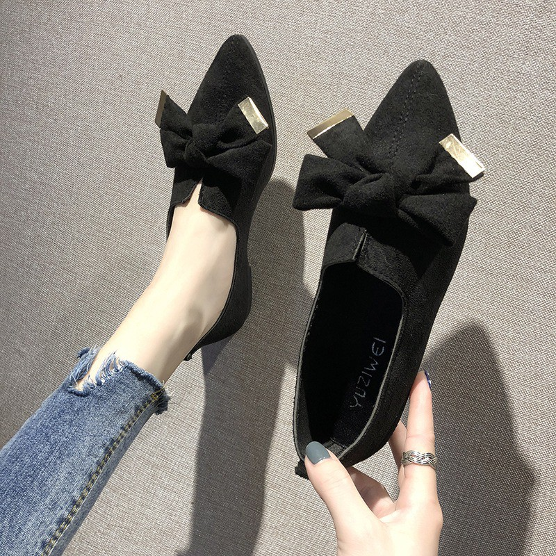 Giày búp bê phối nơ xinh xắn thời trang dành cho nữ