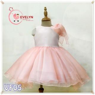 Đầm công chúa 💥 Freeship 💥 Đầm cho bé gái với thiết kế tinh tế, tỉ mỉ Hồng VF05 E001
