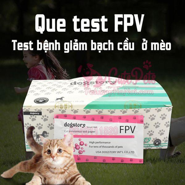 Que Test  FPV Kit Xét Nghiệm Bệnh Giảm Bạch Cầu Mèo - CutePets Phụ kiện chó mèo Pet shop Hà Nội