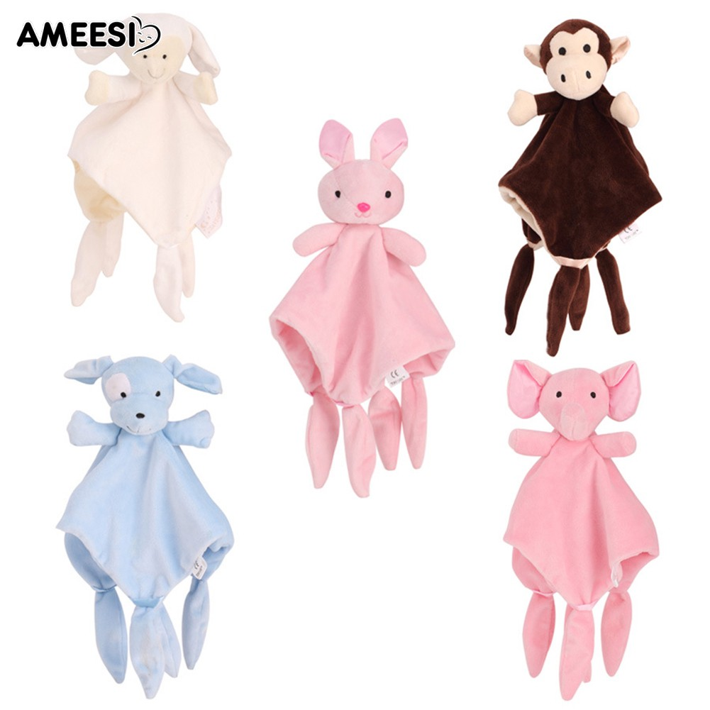🔅🔆AMEESI  Towel Baby Toy Dog Sheep Monkey Elephant Soothing Doll