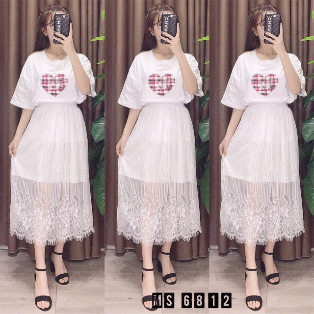 1036336098 - Chân váy maxi ren