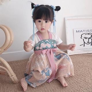 Đầm kiểu công chúa trung hoa thời trang mùa hè dành cho bé gái