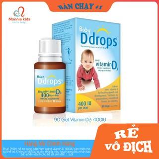 Vitamin D3 400IU Baby Ddrops Cho Bé Từ 0-1 Tuổi Lọ 90 Giọt thumbnail