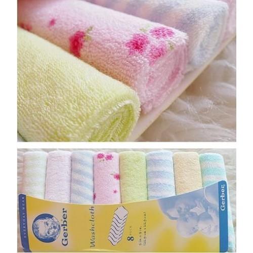 Set 8 khăn mặt Gerber cho bé - 2754580 , 438970694 , 322_438970694 , 30000 , Set-8-khan-mat-Gerber-cho-be-322_438970694 , shopee.vn , Set 8 khăn mặt Gerber cho bé