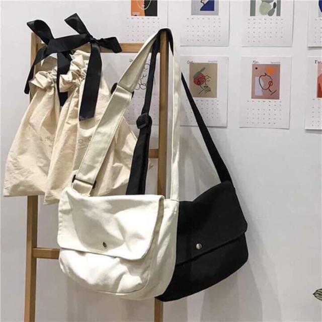 Túi Canvas ❤️ FREESHIP ❤️ Túi đeo chéo nữ canvas trẻ trung basic SIÊU HOT❤️