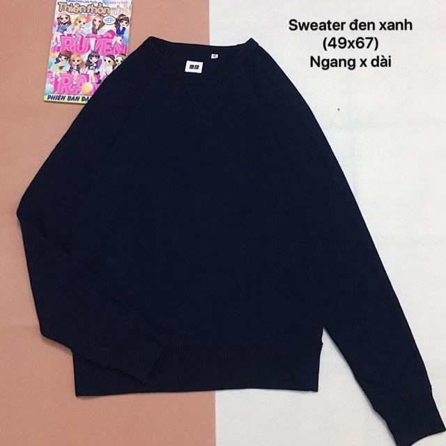 Áo sweater xanh đen - 10022657 , 1160643924 , 322_1160643924 , 200000 , Ao-sweater-xanh-den-322_1160643924 , shopee.vn , Áo sweater xanh đen