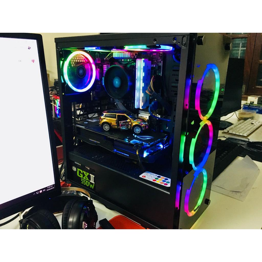 PC Live Stream, Gaming, đồ họa Ryzen 5 2600, RAM 16G, VGA RX 580 ROG Strix Giá chỉ 14.500.000₫