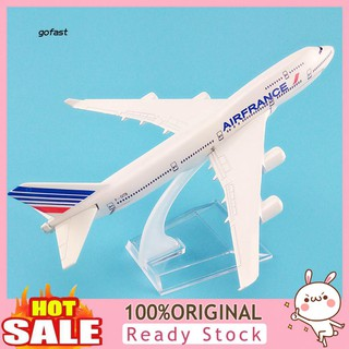 Mod-1/400 France B747 Airways Diecast Airliner Plane with Display Base Kids Toy