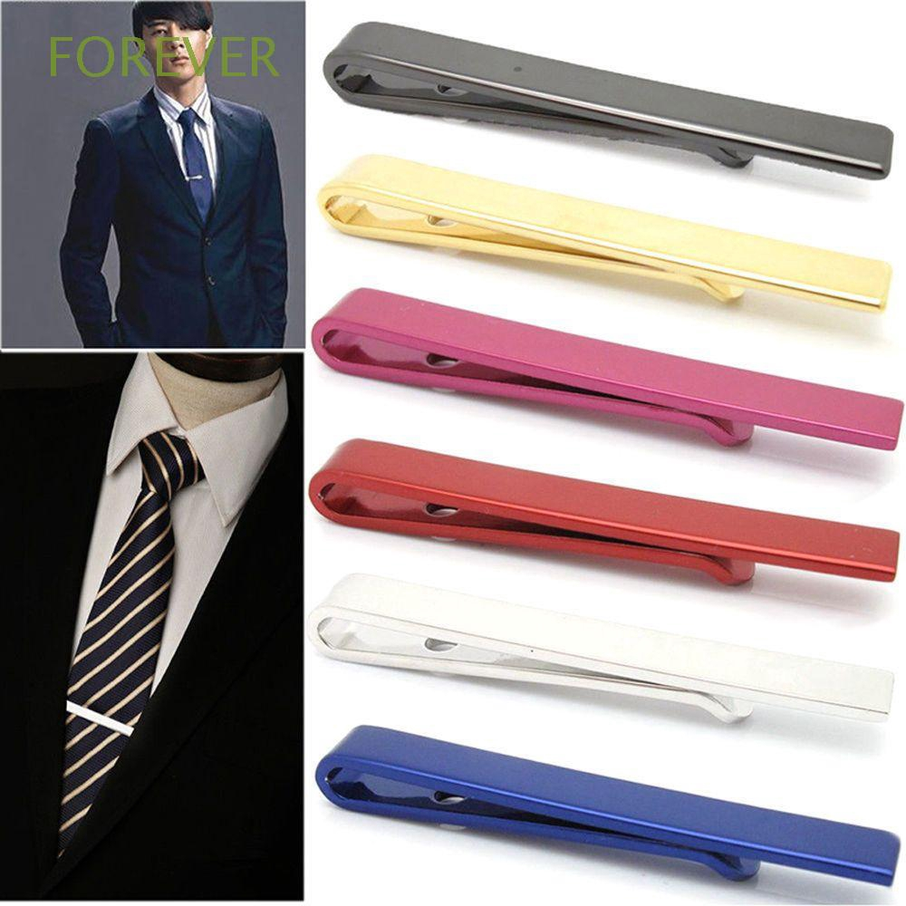 FOREVER Classy Simple Gift Men's Accessories Luxury Style Multi-Color Neck Ties Clips