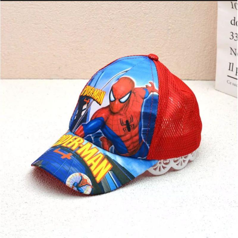 Mũ/Nón kết bé trai, mũ lưỡi trai cho bé trai hình siêu nhân người nhện / Mũ Người nhện bé trai