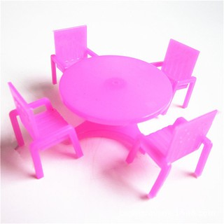 Plastic Kids Simulation Dollhouse Table Chair Sand Table Furniture For