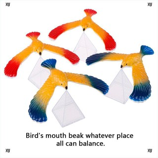 [Toys ] 1Set Balancing bird + pyramid magic physics science enlightenment kid toy gifts