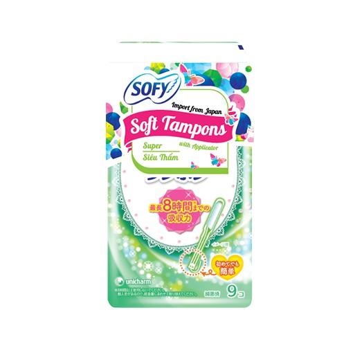 Băng vệ sinh siêu thấm Sofy Soft Tampon Super gói 9 miếng (Hàng nhập khẩu)