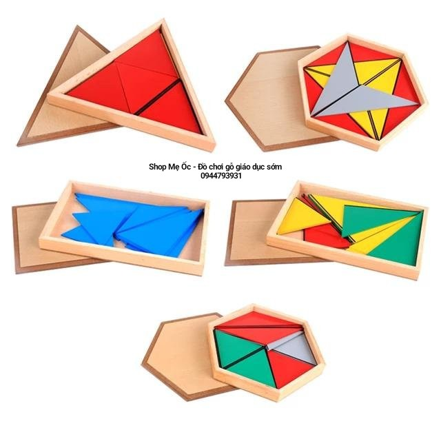 Xếp hình tam giác (Contructive Triangles ) – Giáo cụ Montessori