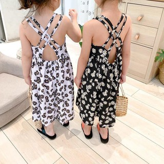 váy hoa nhí đan lưng cho mẹ và bé(váy be )