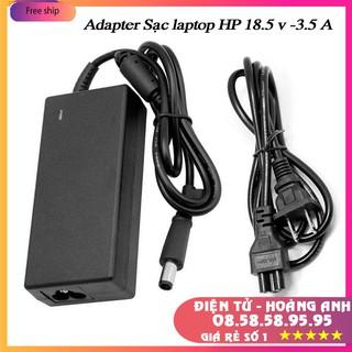 Adapter Sạc laptop HP 18.5 v / 3.5 A (đầu vàng)..kèm dây nguồn hình bông mai
