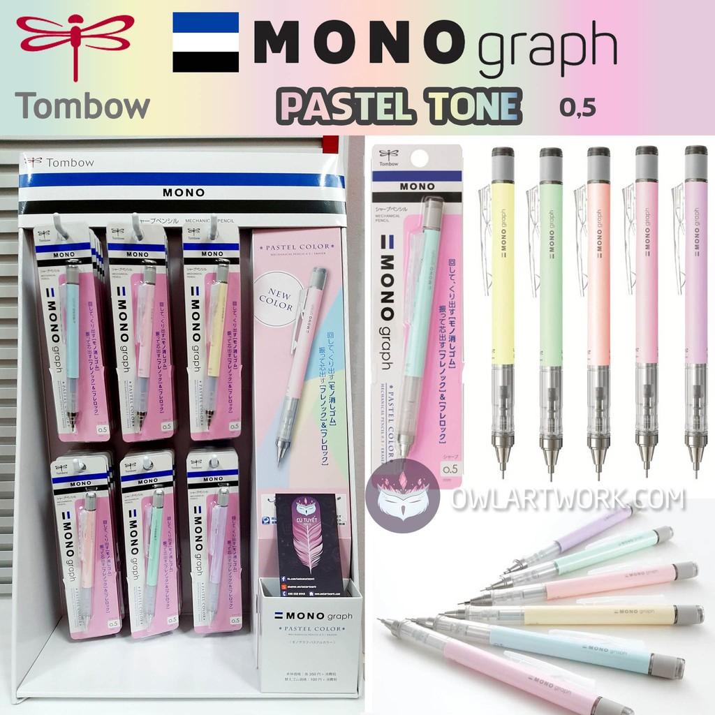 [CHÍNH HÃNG] Bút chì bấm cơ khí Pastel Tone TOMBOW Mono Graph 0.5mm