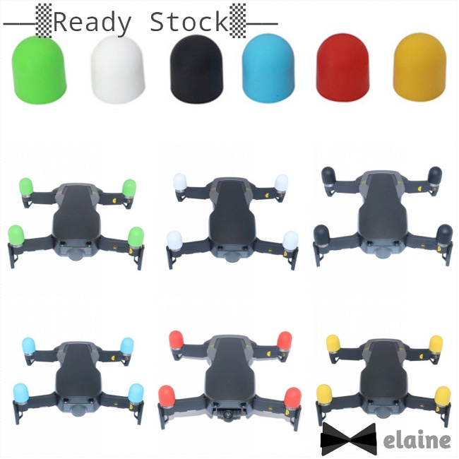 Elaine 4pcs Motor Cover Silicone Rubber Case Cap Sleeve Guard Motor Protective Accessories for DJI Mavic Spark Air Drone