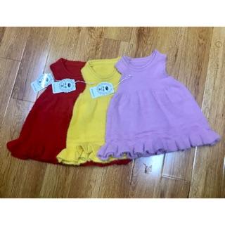 váy len lông thỏ quảng châu cho bé