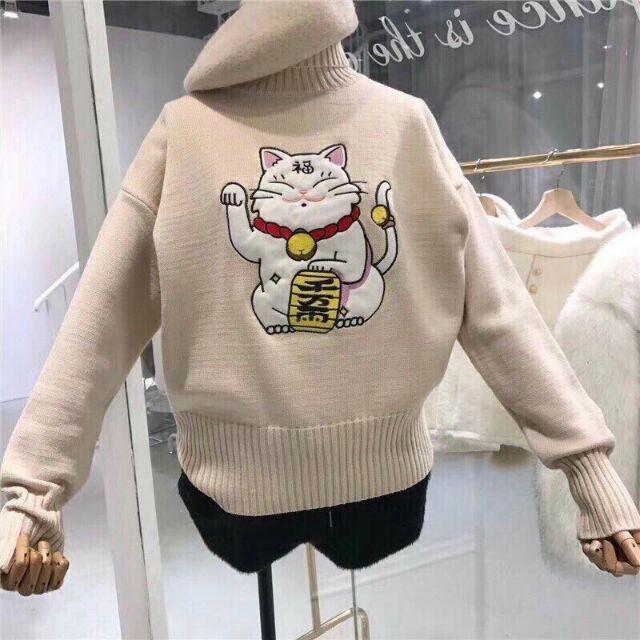 áo len mèo