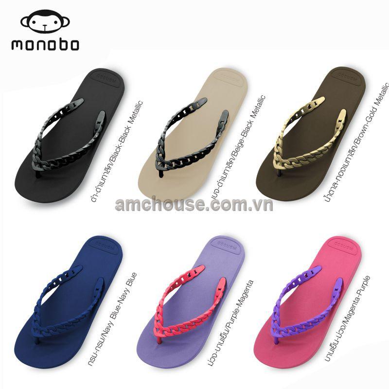 Dép Thái Lan nữ xỏ ngón cao su MONOBO - JINA 3 - ĐEN