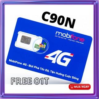 Sim 4G Mobifone C90N - FV119 - MIỄN PHÍ 2 THÁNG - 120GB DATA TỐC ĐỘ CAO - 4GB/NGÀY - MIỄN PHÍ GỌI