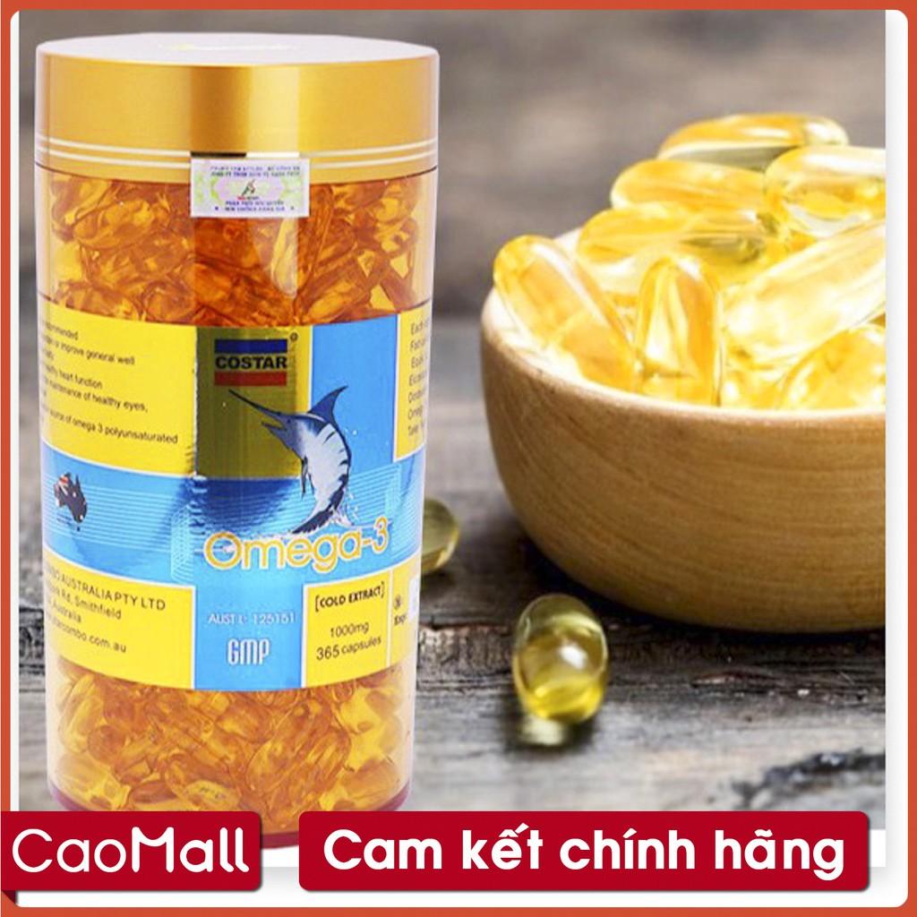 CaoMALL] - Viên uống dầu cá COSTAR Omega 3 1000mg hộp lớn 365 viên   Shopee Việt Nam
