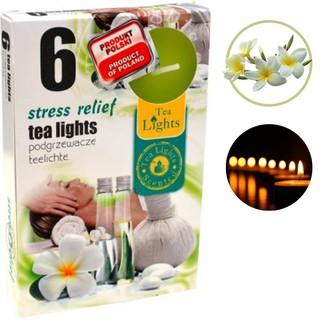 SÁP 6 NẾN thơm tinh dầu Tealight Admit Stress Relief,HƯƠNG HOA ĐẠI.Trang trí,nhập khẩu châu âu