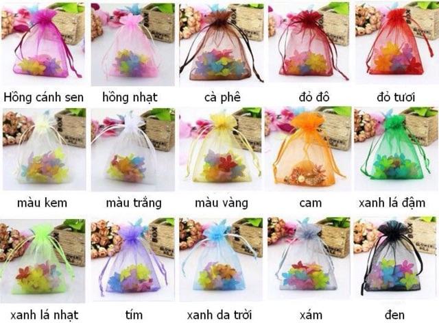 Túi vải voan dây rút nhiều màu& size (giá cho 100c) vui lòng xem thêm mô tả bên dưới