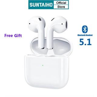 Cặp Tai Nghe Nhét Tai Inpods Pro4 Suntaiho Tws Bluetooth 5.1 Mini Cho Điện Thoại Android Iphone