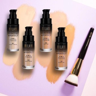 Kem nền MILANI Conceal + Perfect 2 in 1 Foundation & Concealer (30ml) thumbnail
