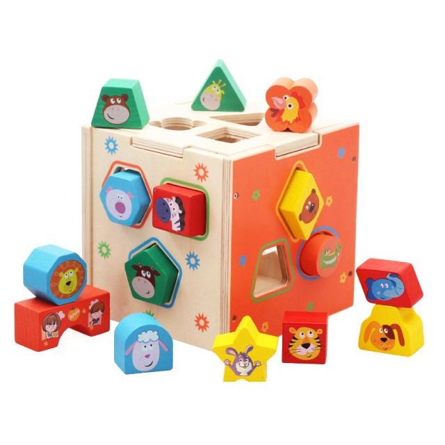 Đồ Chơi Gỗ Vivitoys - Hộp thả hình khối gỗ động vật - Đồ chơi giáo dục cho trẻ em phát triển kỹ năng.