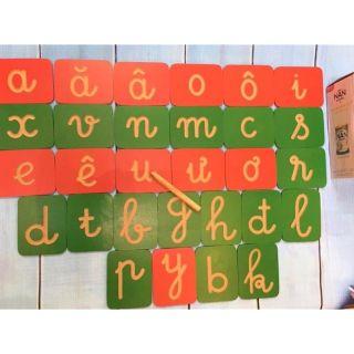 Bộ 28 chữ cái gỗ cho bé tập viết