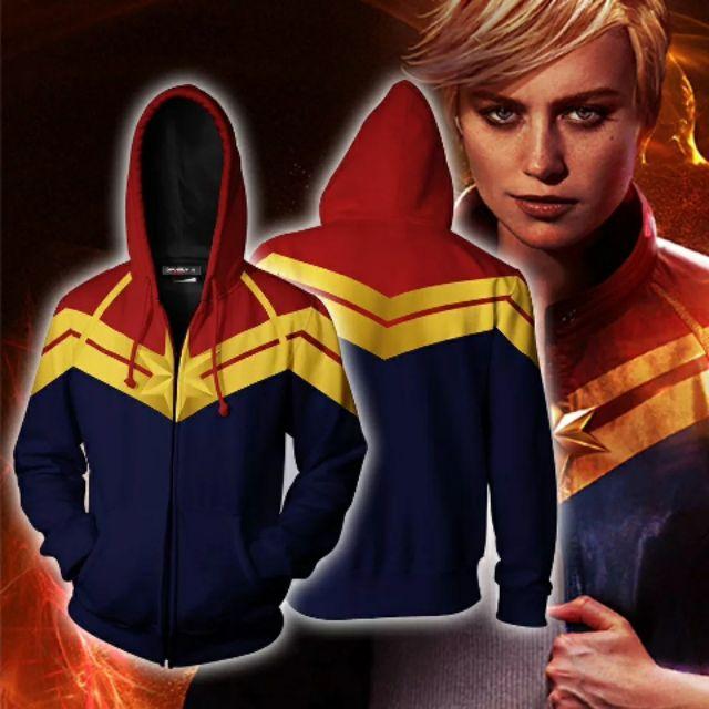 Áo Hoodie Captain Marvel Cực Đẹp Và Độc Áo khoác nỉ