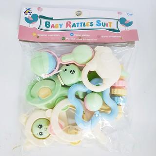 Bộ đồ chơi xúc xắc Baby Rattles Suit 8 món