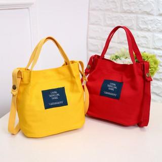 Túi vải đeo chéo phong cách năng động hợp thời trang cho nữ