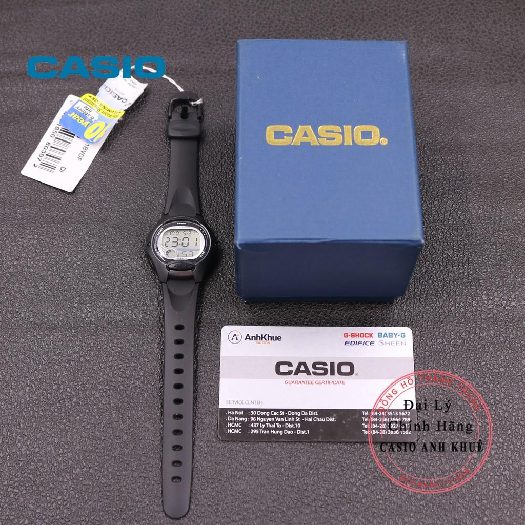 Đồng Hồ Nữ Casio LW-200-1BVDF Dây Nhựa Pin 10 Năm