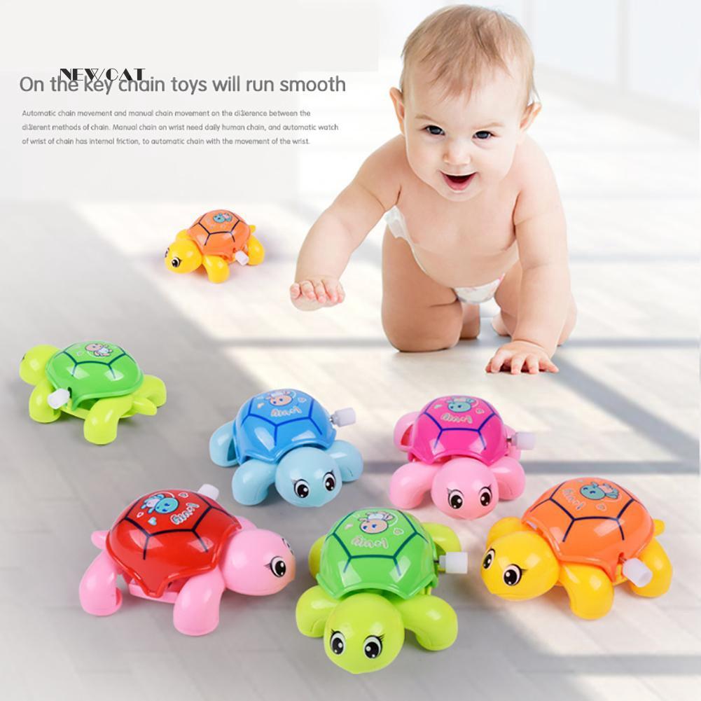 ღNK_Cute Animal Clockwork Tortoise Baby Turtles Toys Infant Crawling Wind Up Toy