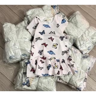 Váy cộc tay HM Butterflies 1-10Y (có ảnh thật)
