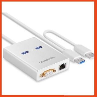 [SHIP THẦN TỐC] Cáp USB 3.0 sang VGA và 2 cổng USB 3.0 tích hợp Lan Gigabit Ugreen 40242