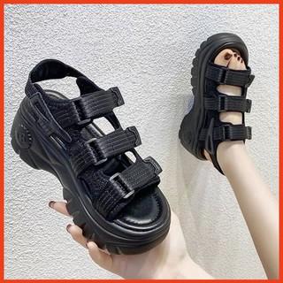 Dép Sandal Nữ Học Sinh Quai Dán Đế Cao 6cm Giày Sandal Hàn Quốc Đi Học, Đi Chơi thumbnail
