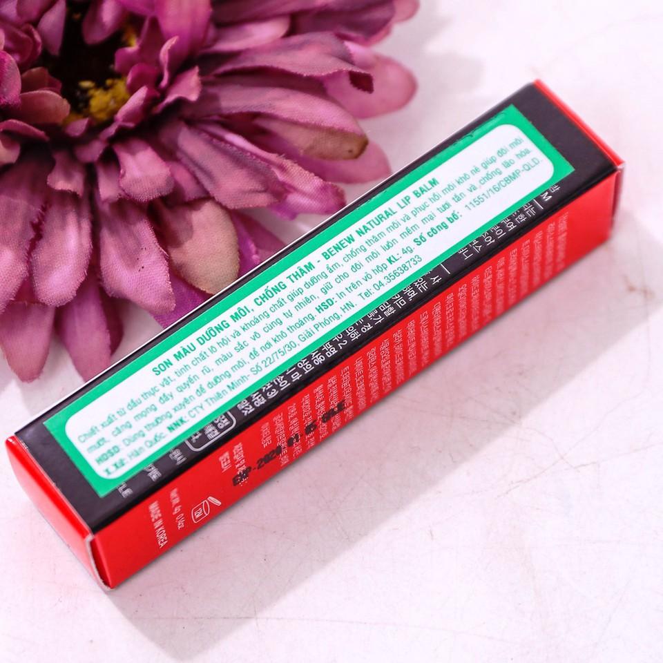 Son dưỡng môi chống thâm môi có màu BENEW NATURAL HERB LIP BALM 3.5g